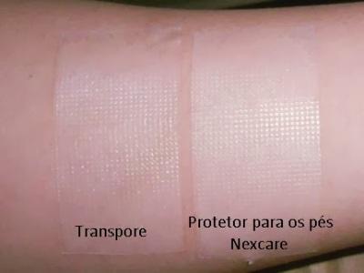 Transpore vs Fita adesiva protetora para pés Nexcare